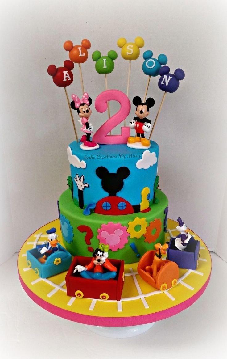 10 Beautiful Mickey Mouse Clubhouse Cake Ideas Minnie And Friends Birthday Kavish