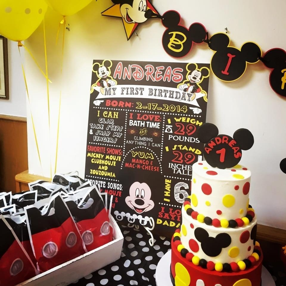 10 Lovely Mickey Mouse Party Ideas Pinterest mickey mouse birthday candy dessert table buffet bar classic colors 2020