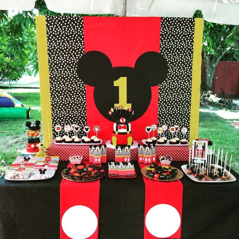 10 Lovely Mickey Mouse Party Decorations Ideas mickey mouse birthday party ideas mickey mouse birthday mickey 4 2020