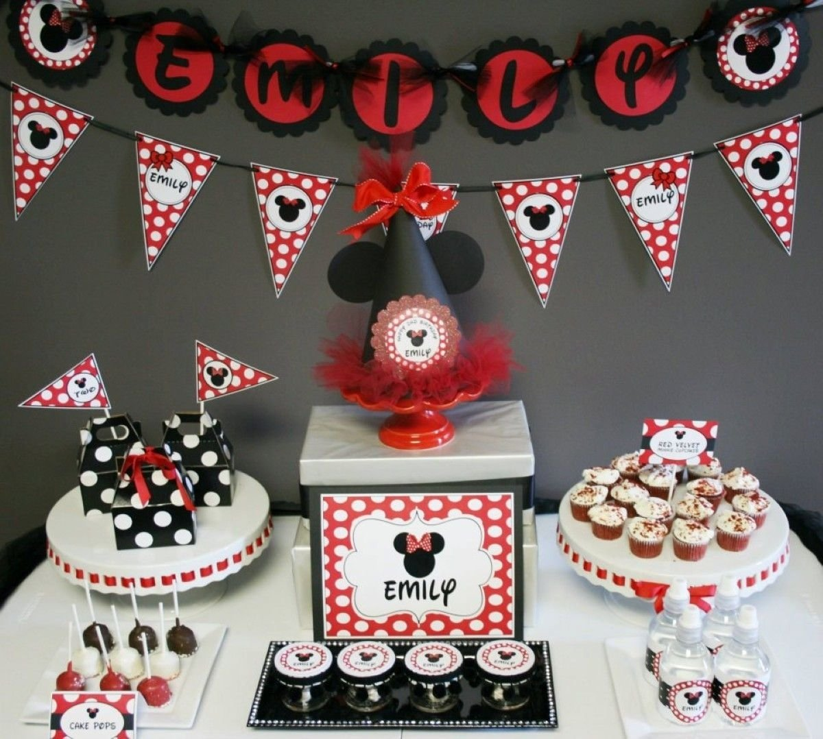10 Pretty Minnie And Mickey Mouse Party Ideas mickey mouse birthday party ideas mouse mickey cars vmj 12000 en 1 2021