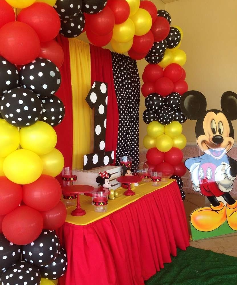 10 Gorgeous Mickey Mouse Birthday Party Ideas 1St Birthday mickey mouse birthday party ideas photo 10 of 11 catch my party 2020