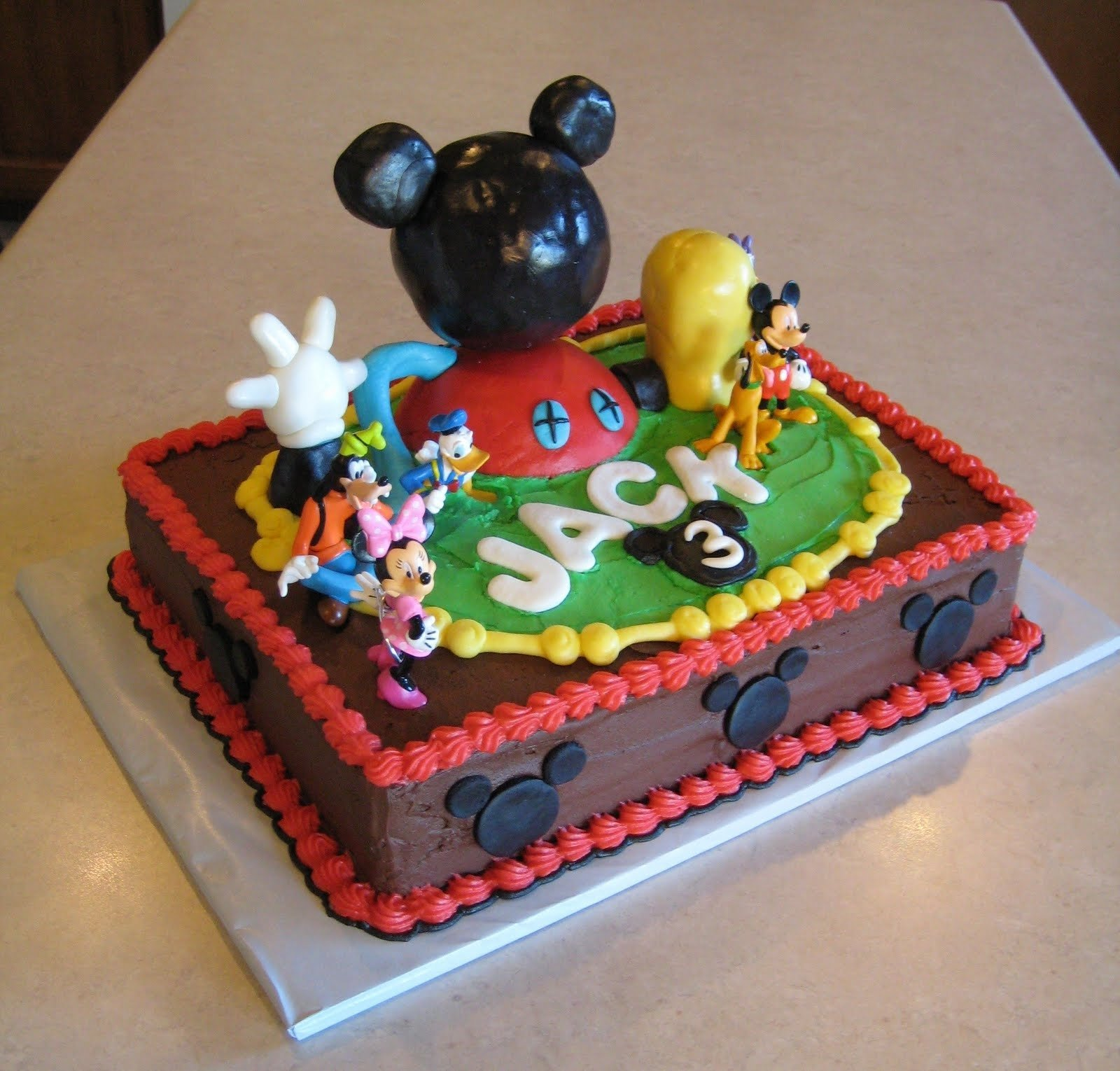 10 Most Popular Mickey Mouse Birthday Cake Ideas mickey mouse cake decoration ideas little birthday cakes 2 2020