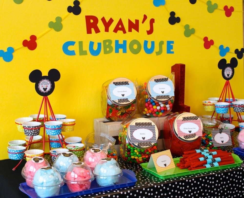 mickey mouse clubhouse birthday party ideas | photo 1 of 18 | catch