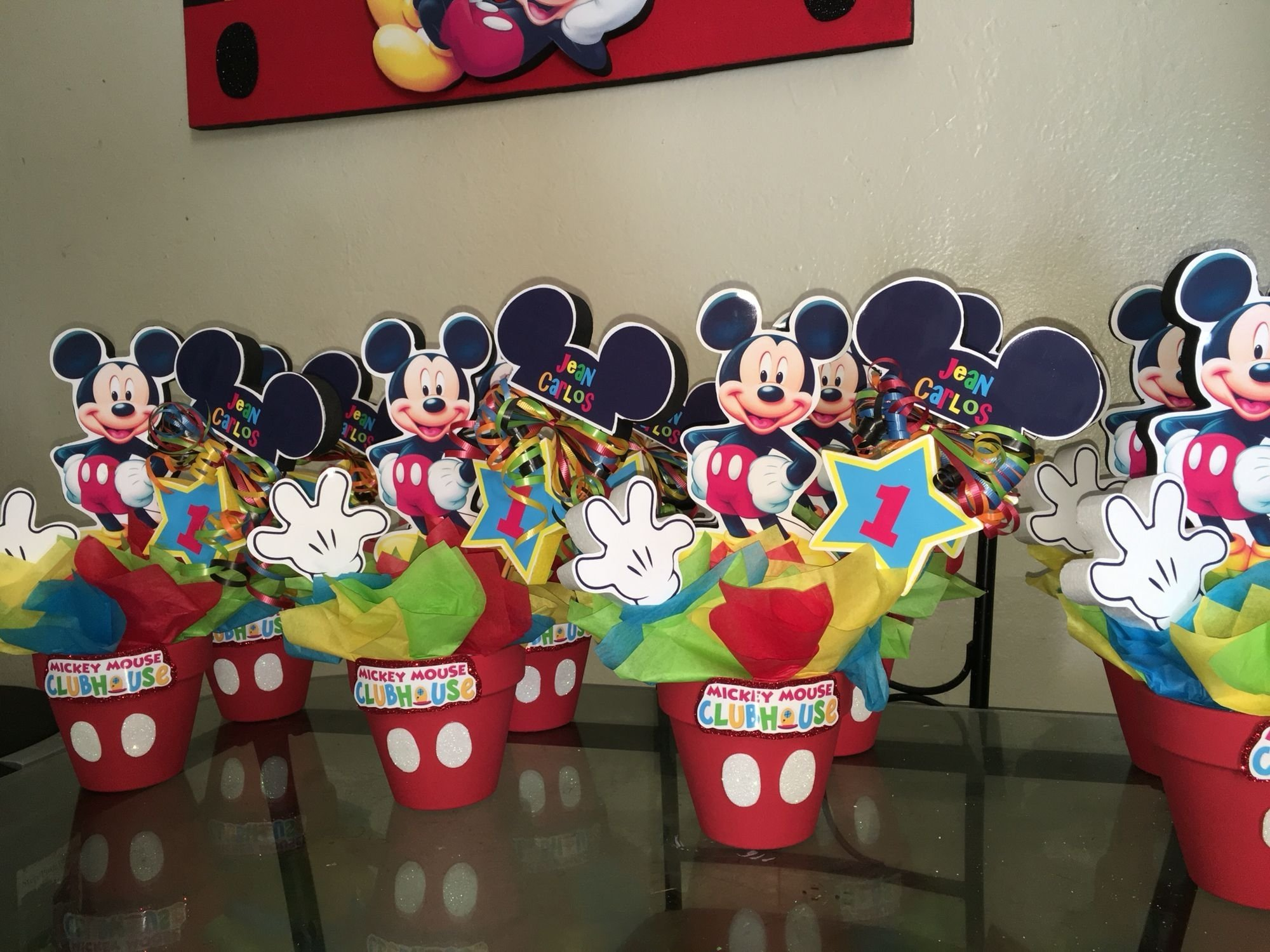 mickey mouse clubhouse centerpieces | mickey y minnie | pinterest