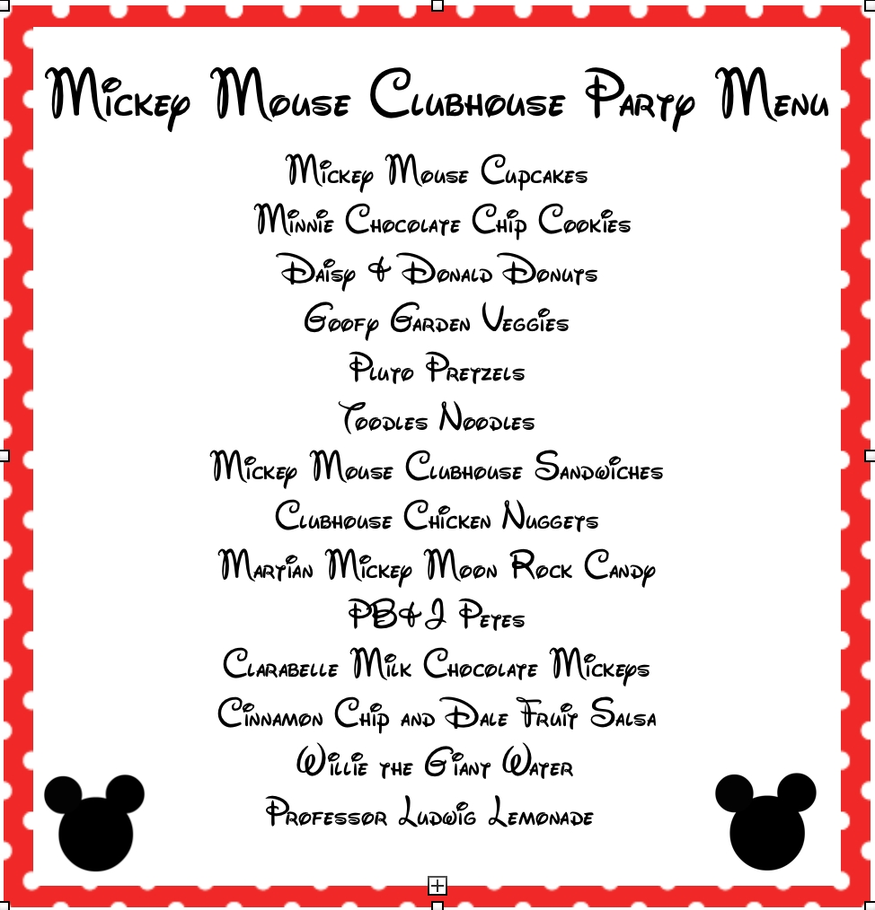 10 Stylish Mickey Mouse Clubhouse Party Food Ideas mickey mouse clubhouse printable signs mickey mouse party food 2020