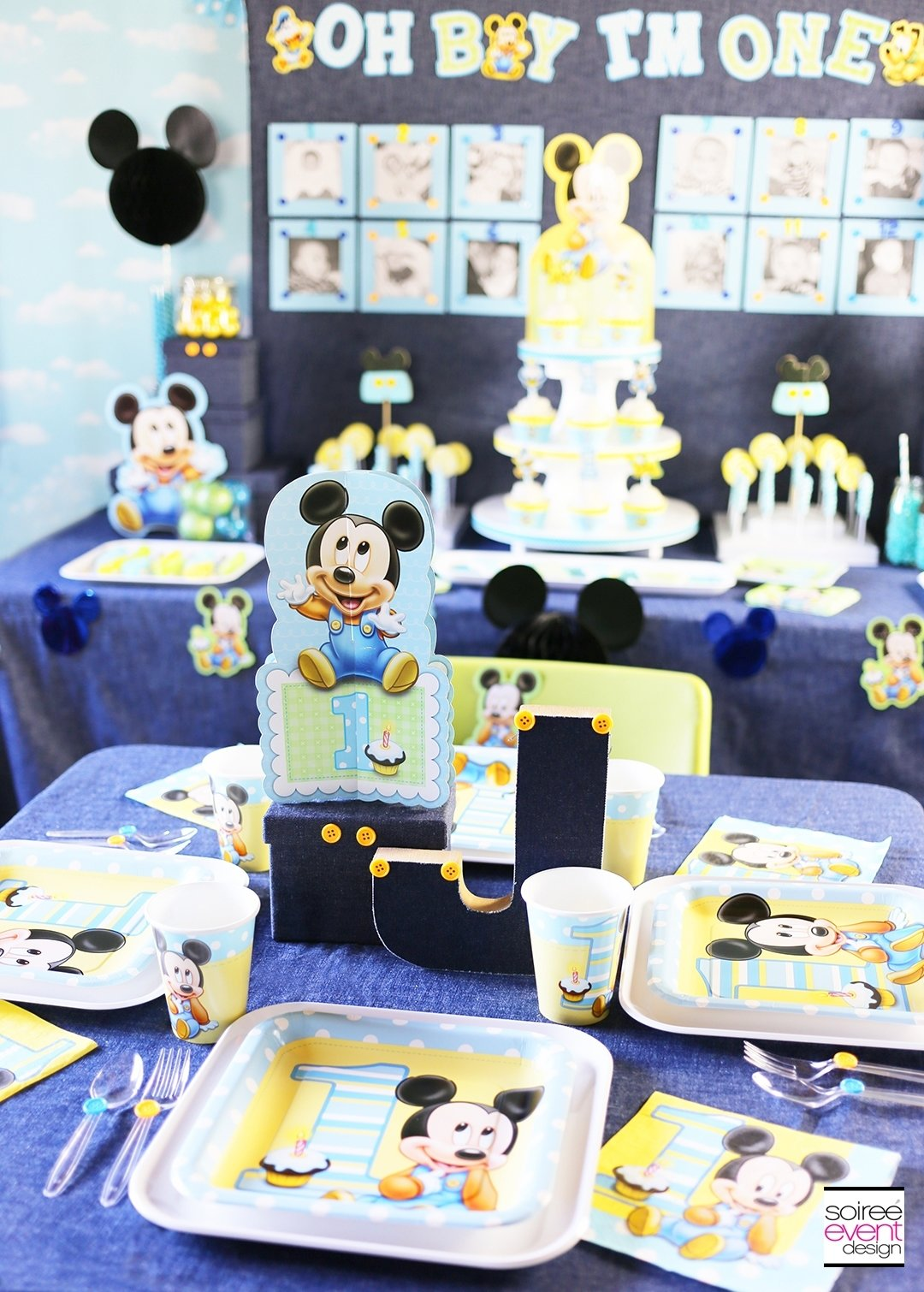 10 Gorgeous Mickey Mouse Birthday Party Ideas 1St Birthday mickey mouse first birthday party ideas soiree event design 5 2020