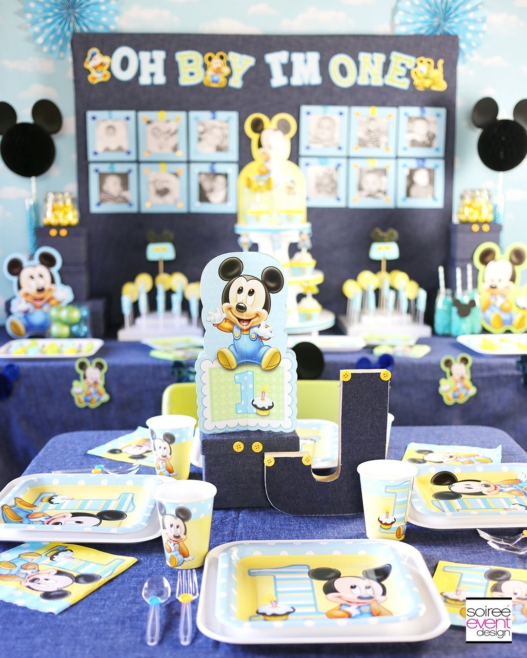 10 Gorgeous Mickey Mouse Birthday Party Ideas 1St Birthday mickey mouse first birthday party ideas soiree event design 6 2020