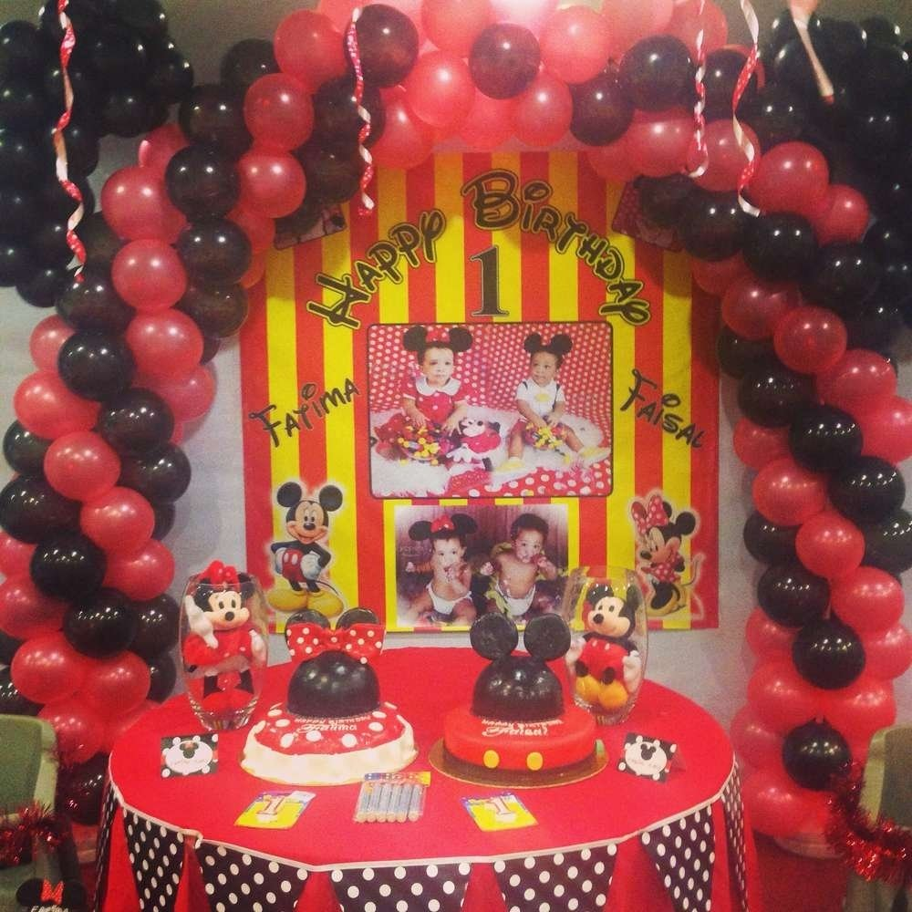 10 Stunning Minnie And Mickey Party Ideas mickey mouse minnie mouse birthday party ideas photo 1 of 17 1 2020