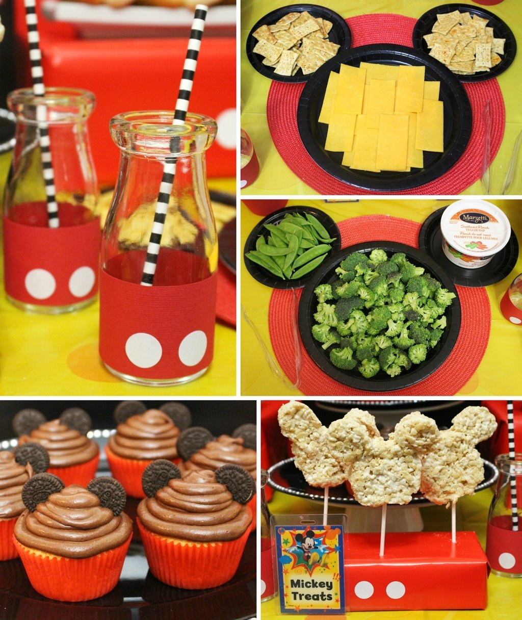 10 Awesome Mickey Mouse Party Food Ideas mickey mouse party mickeys clubhouse party at birthday in a box 21