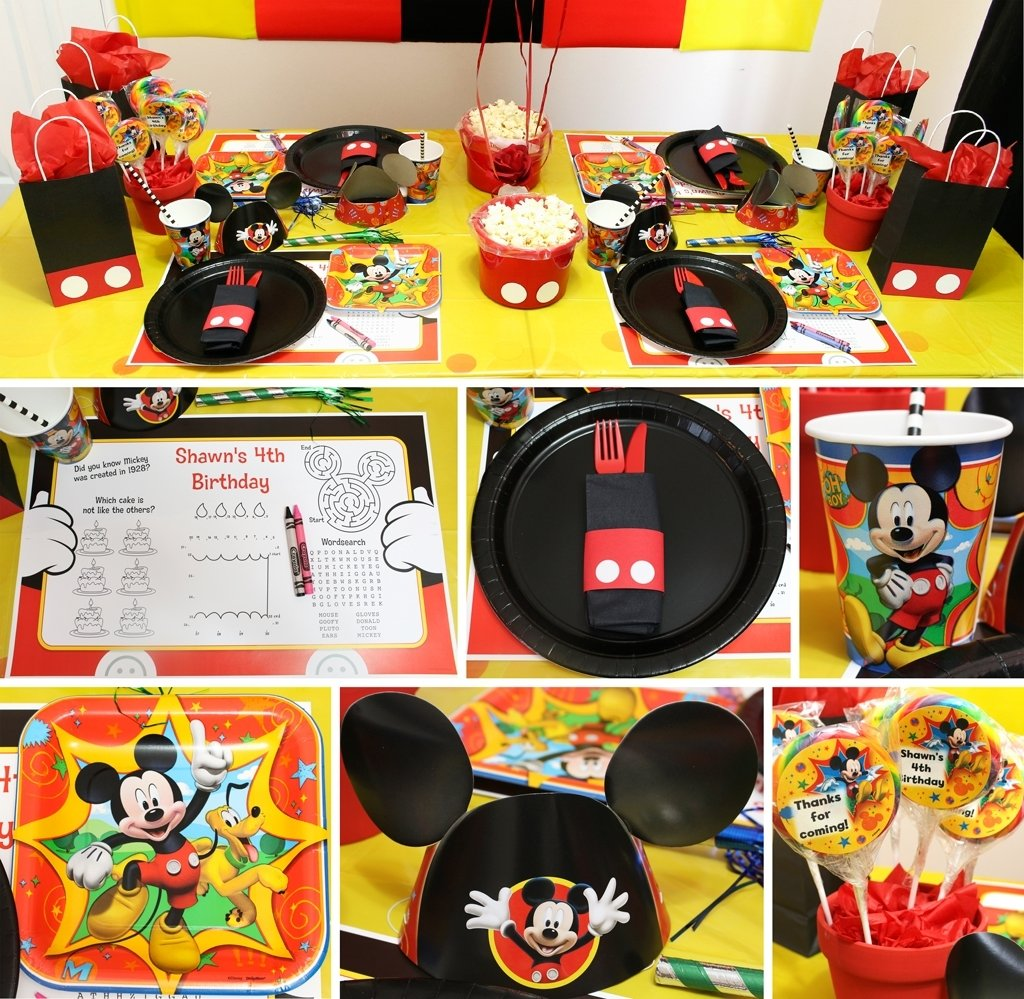 mickey mouse party | mickey's clubhouse party at birthday in a box