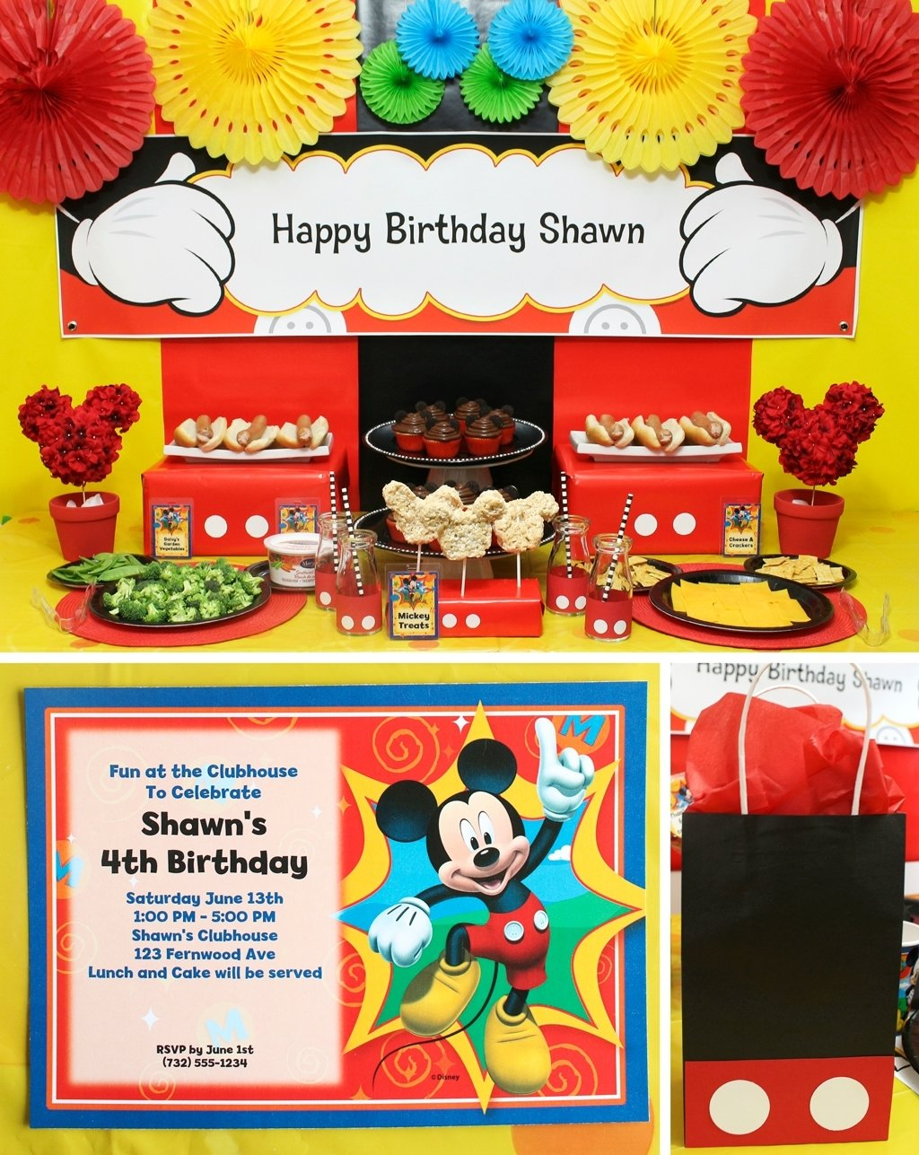 10 Perfect Mickey Mouse Party Ideas For One Year Old mickey mouse party mickeys clubhouse party at birthday in a box 45 2021