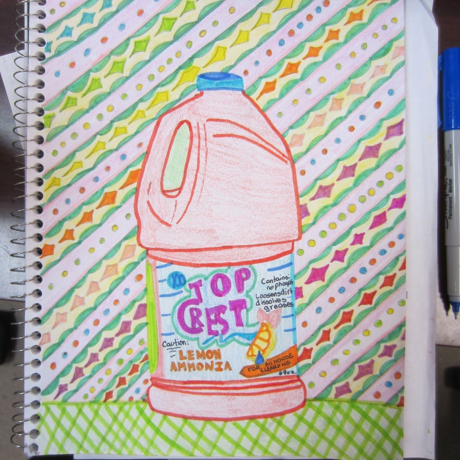 10 Stunning Sketchbook Ideas For Middle School middle school sketchbook assignment pop art dalis moustache 2020