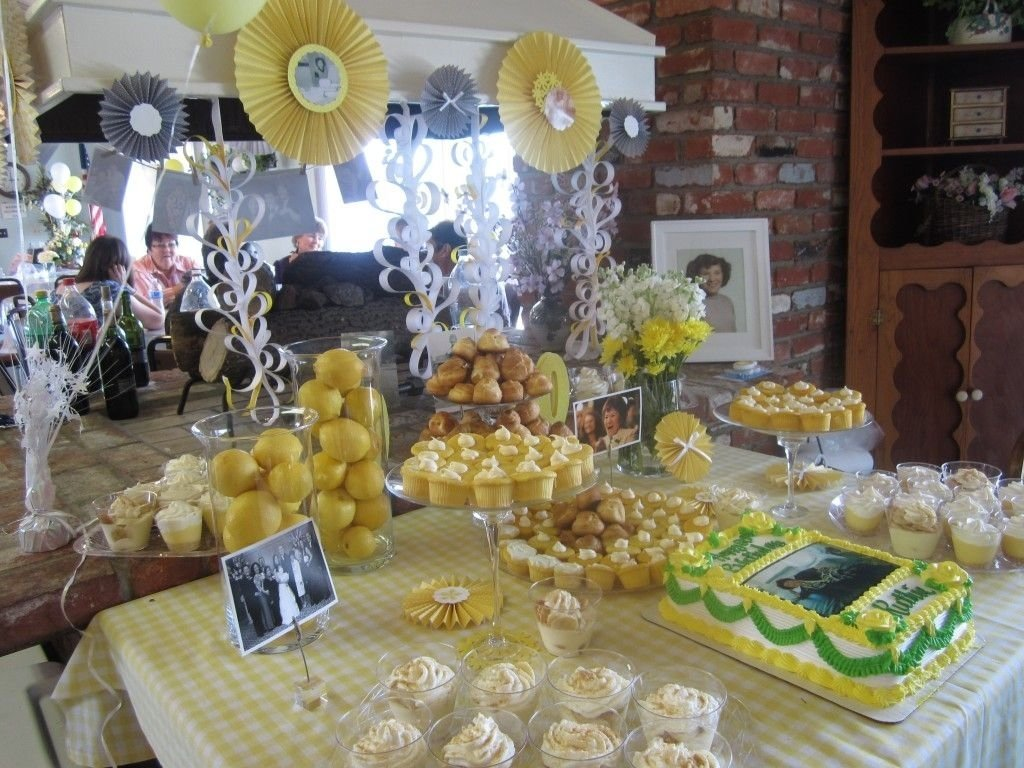 10 Nice Ideas For An 80Th Birthday Party milestone birthday my grandmas 80th birthday dessert table and