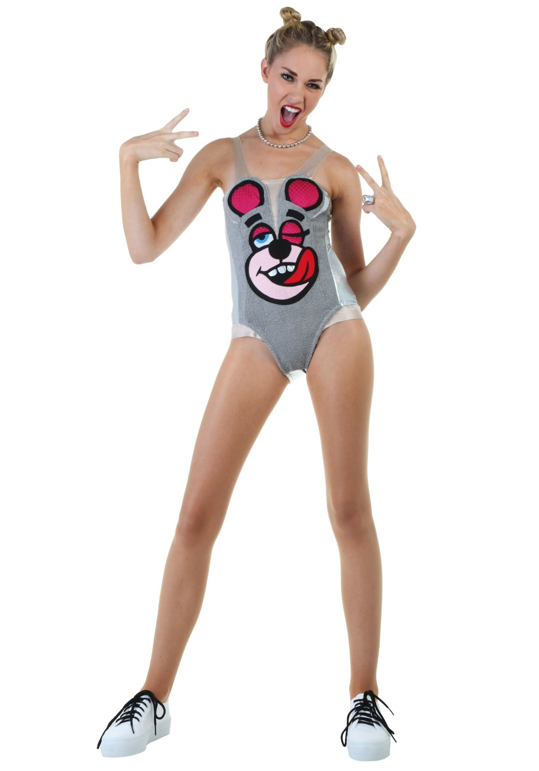 10 Lovable Miley Cyrus Halloween Costume Ideas miley cyrus vma awards twerking bear halloween costume haha oh my 2021