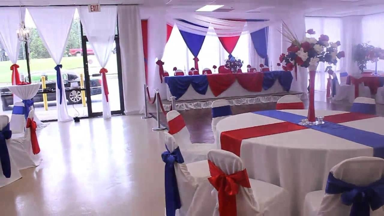 10 Beautiful Red White And Blue Party Ideas military retirement red white and blue theme at the all events hall 1 2020