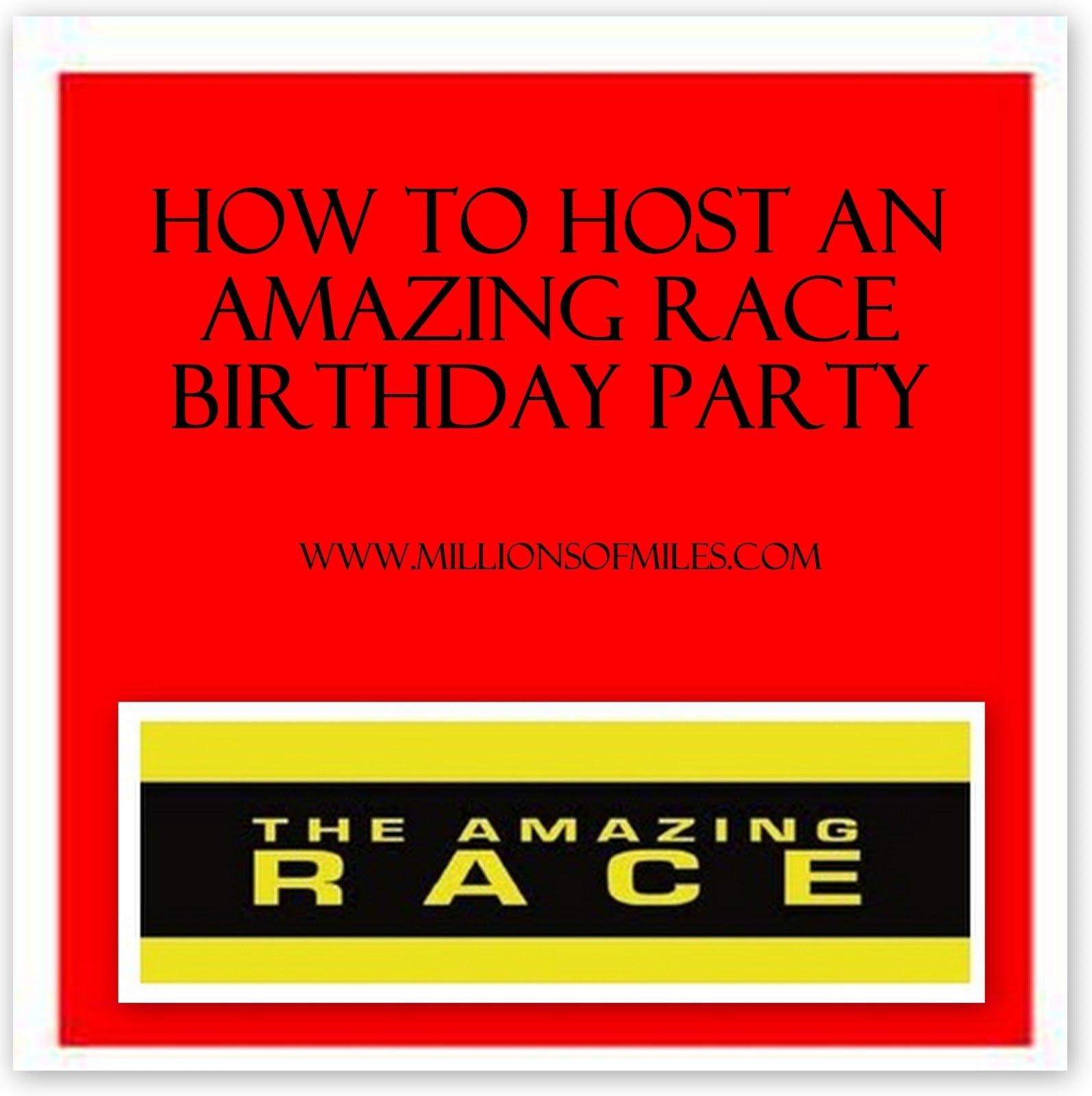 10 Wonderful Amazing Race Birthday Party Ideas millions of miles our amazing race birthday party 1 2020