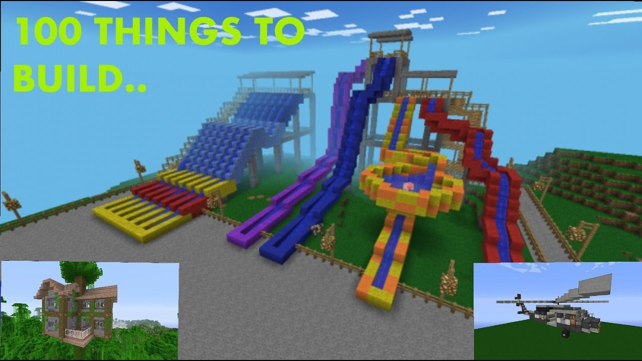 10 Awesome Ideas Of Things To Build In Minecraft minecraft 100 things to build youtube