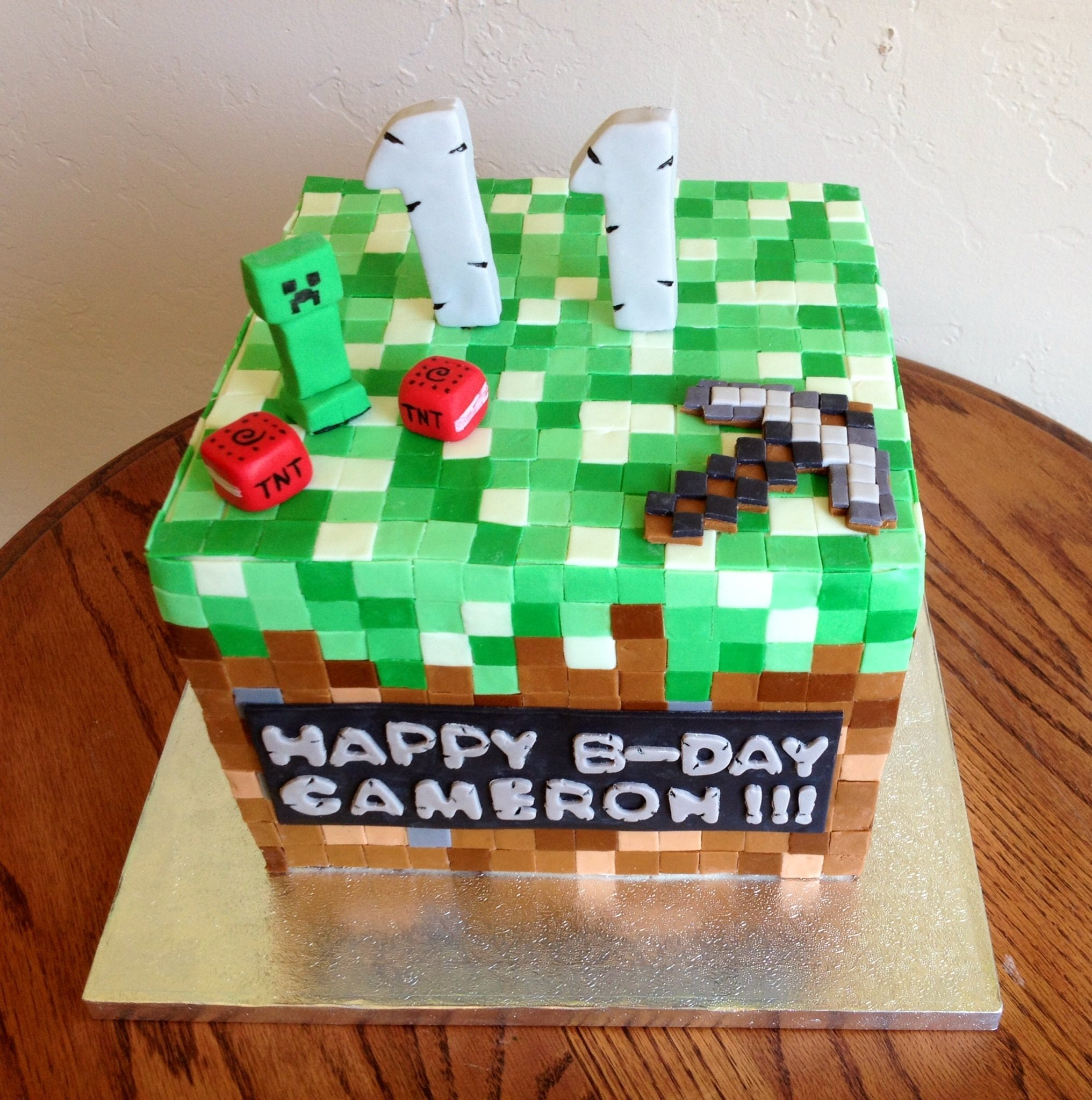 10 Beautiful Birthday Party Ideas For 11 Year Old Boys minecraft cake for an 11 year old birthday boy he was so excited 2021
