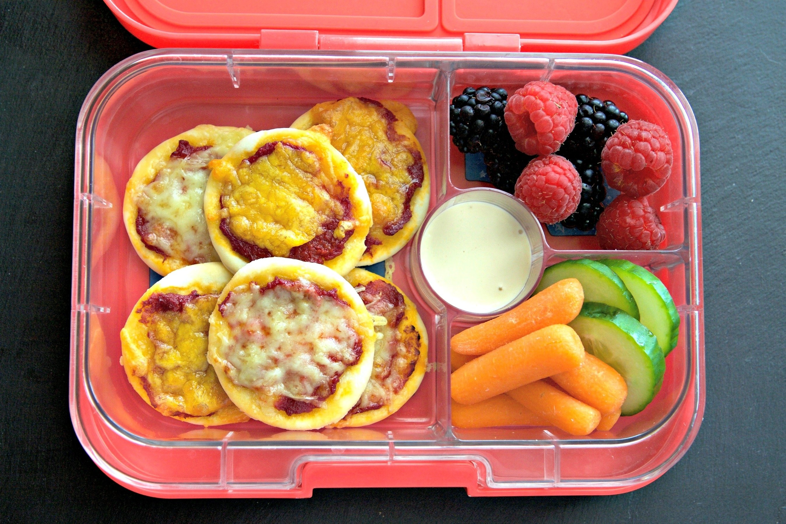 10 Ideal School Lunch Ideas For Picky Kids mini pizza recipe the perfect picky eater meal yumbox 5 2020