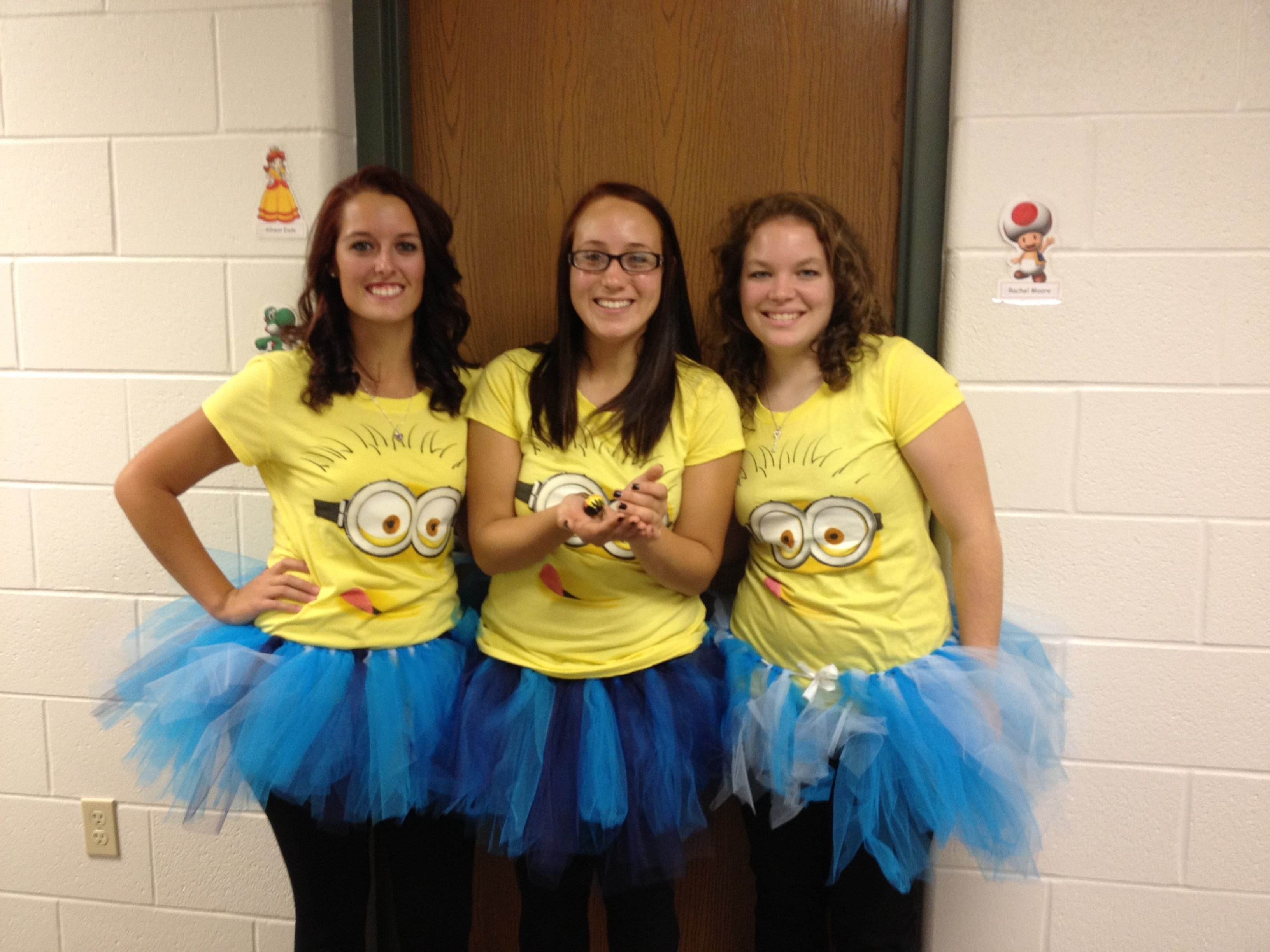 10 Awesome Costume Ideas For Three Girls minions costume for halloween for our three girls ages 19mo 7 10