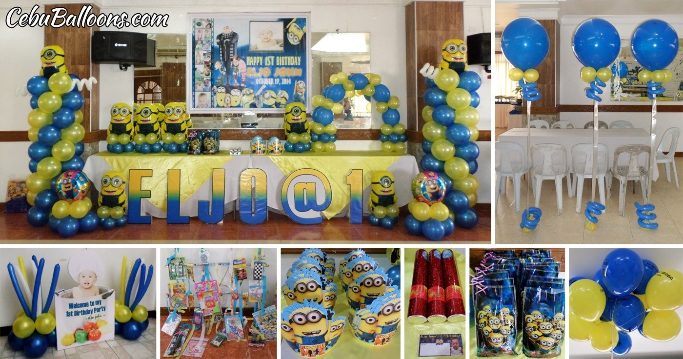 minions (despicable me)   cebu balloons and party supplies