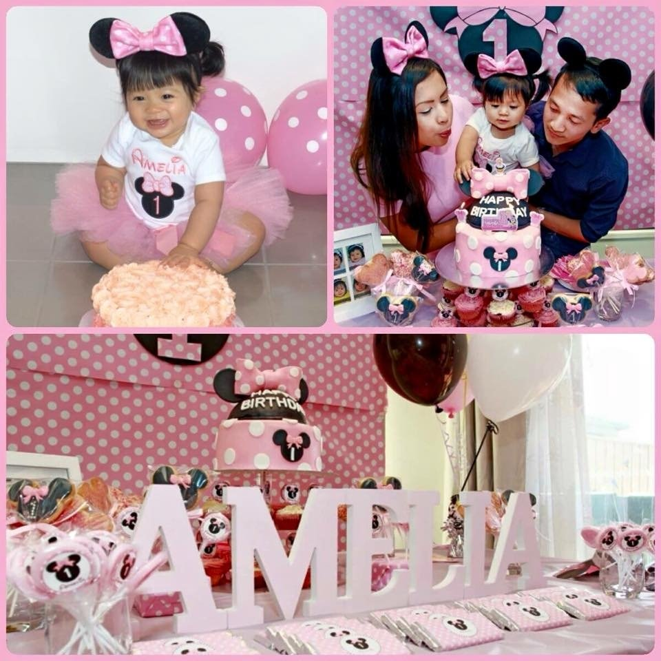 Baby Girl First Birthday Outfit Minnie Mouse Rldm