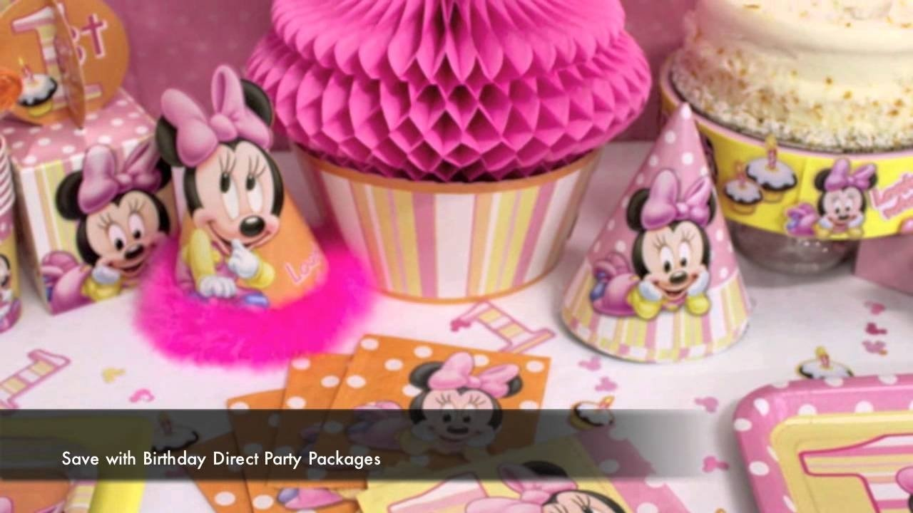 10 Fashionable Minnie Mouse First Birthday Ideas minnie mouse 1st birthday party supplies youtube 2 2021