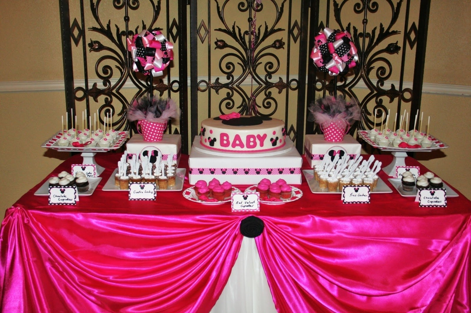 10 Wonderful Baby Minnie Mouse Baby Shower Ideas minnie mouse baby shower decorations baby shower decoration ideas 1