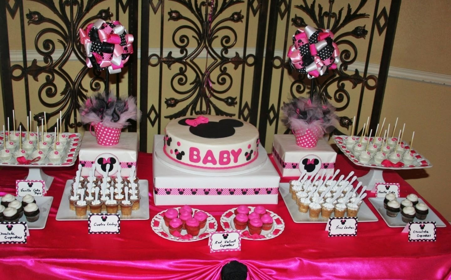 Imgenes De Minnie Mouse Baby Shower Table Centerpieces