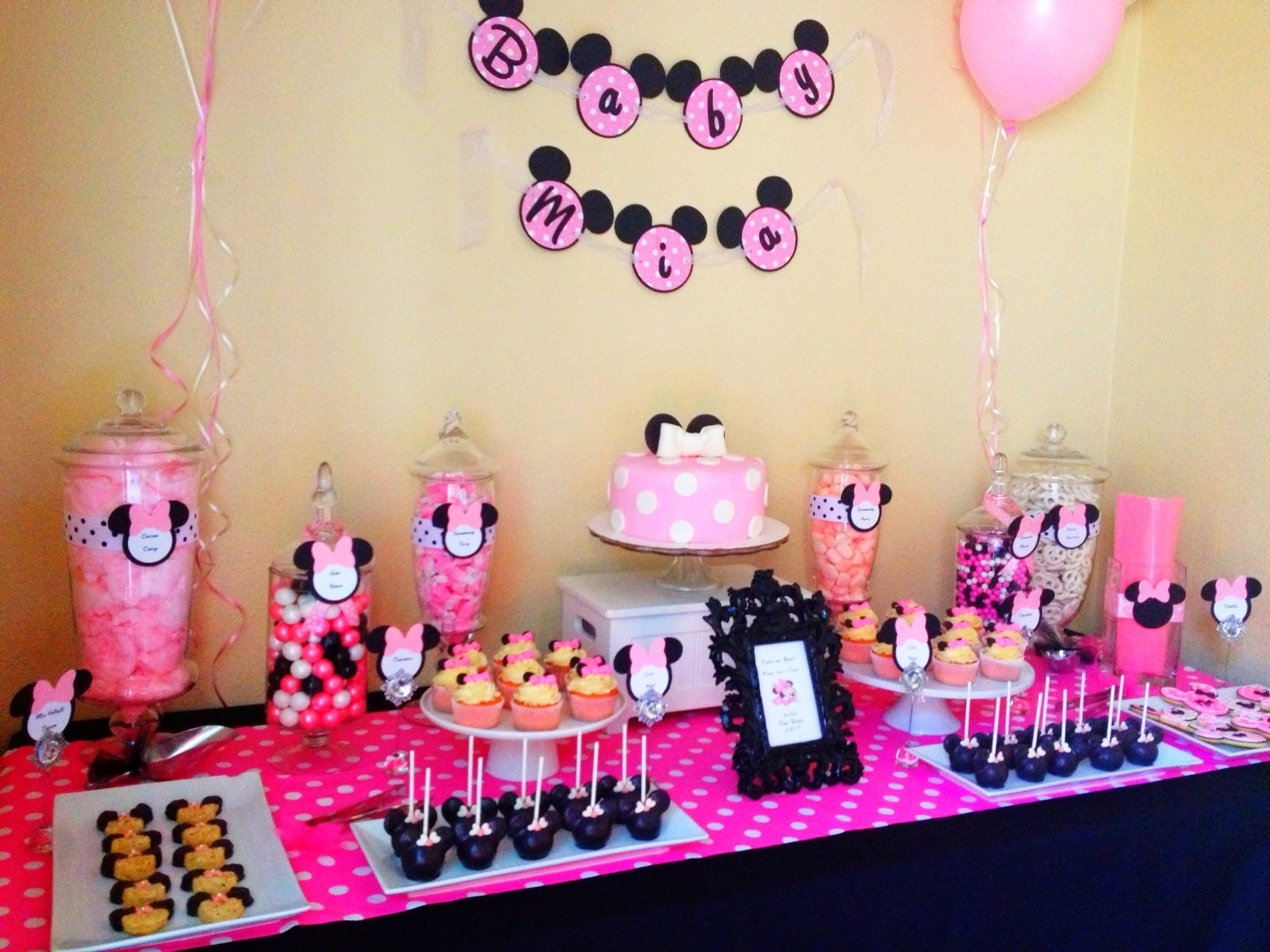 minnie mouse babyshower candy buffetsweet tooth buffets www