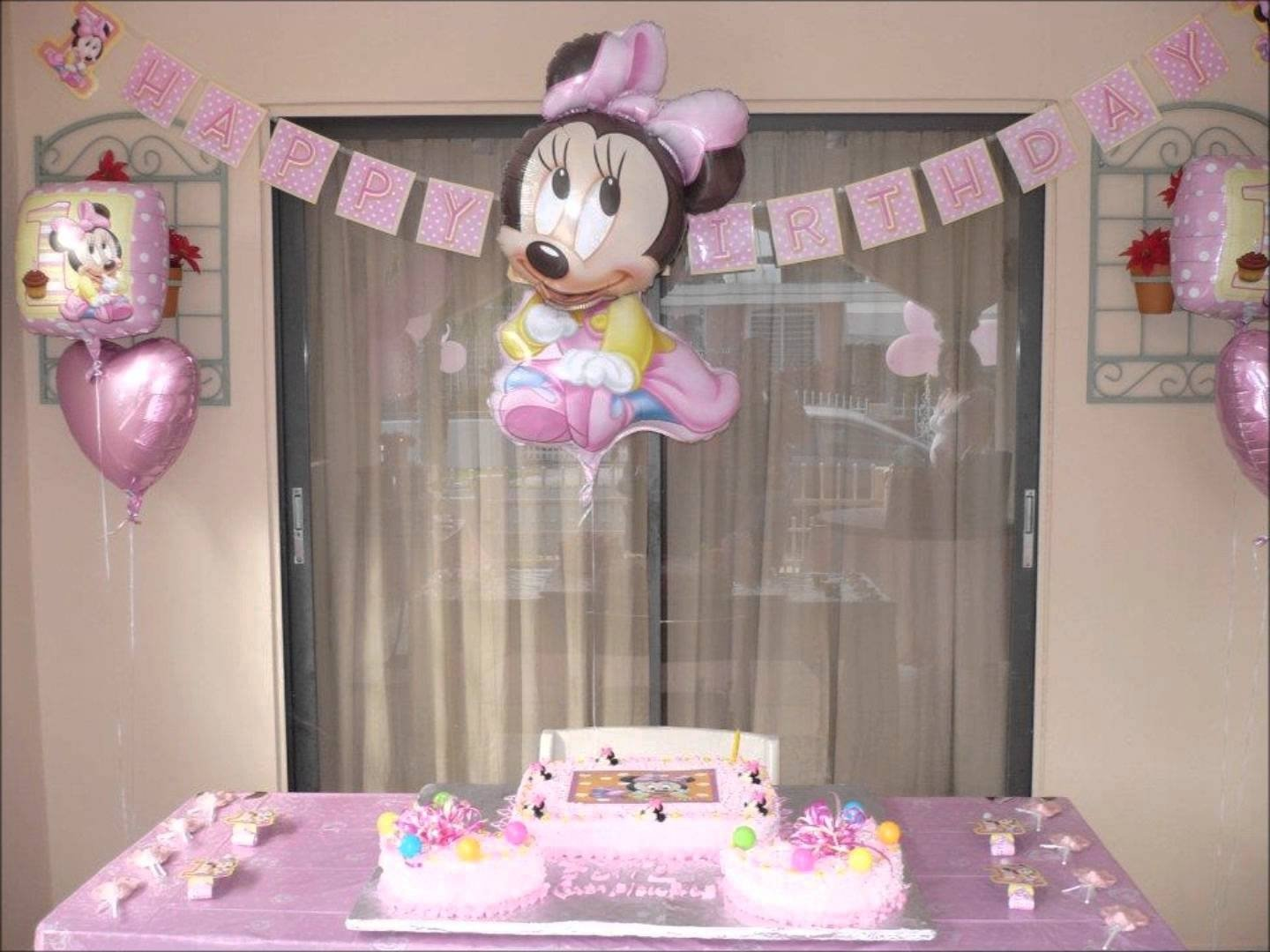 minnie mouse birthday decoration - youtube
