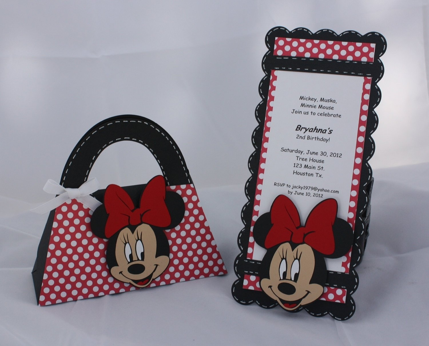 10 Attractive Mickey Mouse Goody Bag Ideas minnie mouse birthday invitations and goody bag set 40 00 via 1 2020