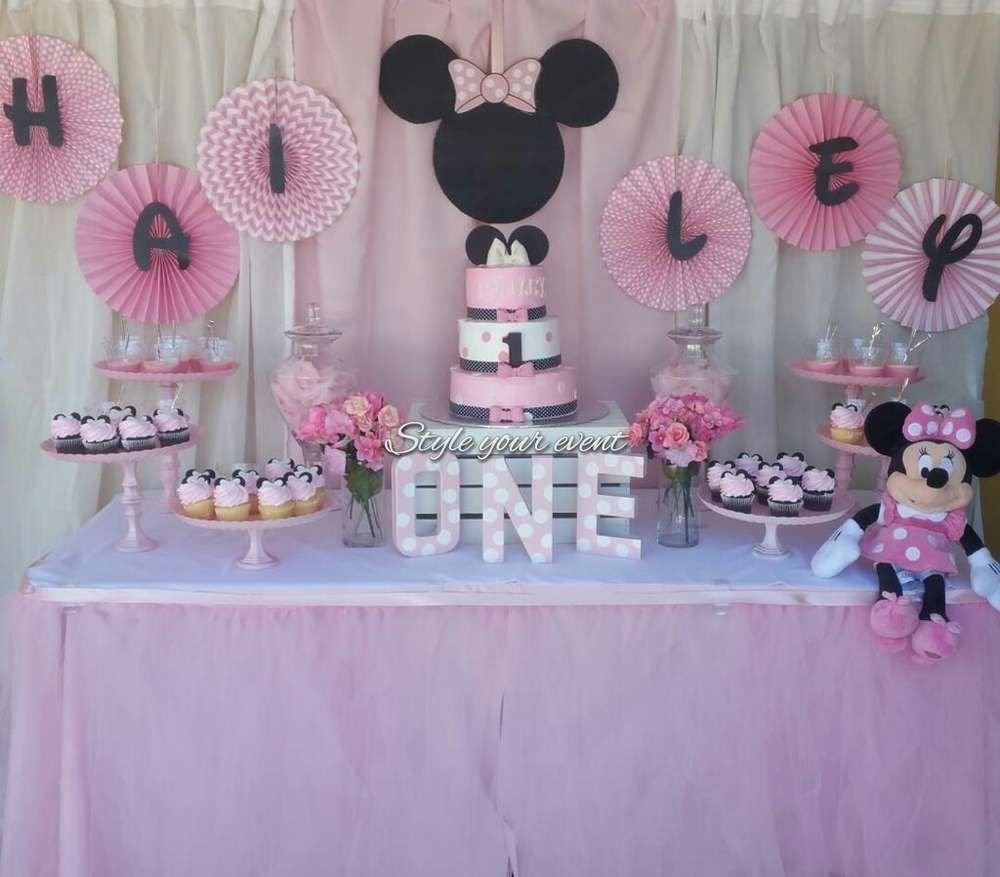 10 Beautiful Baby Minnie Mouse Party Ideas minnie mouse birthday party ideas anniversaire fille 2020