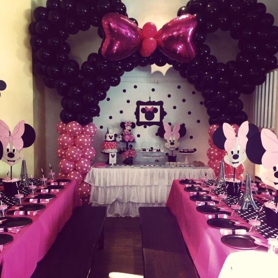 10 Fashionable Minnie Mouse First Birthday Ideas minnie mouse birthday party ideas minnie mouse balloons balloon 2 2021