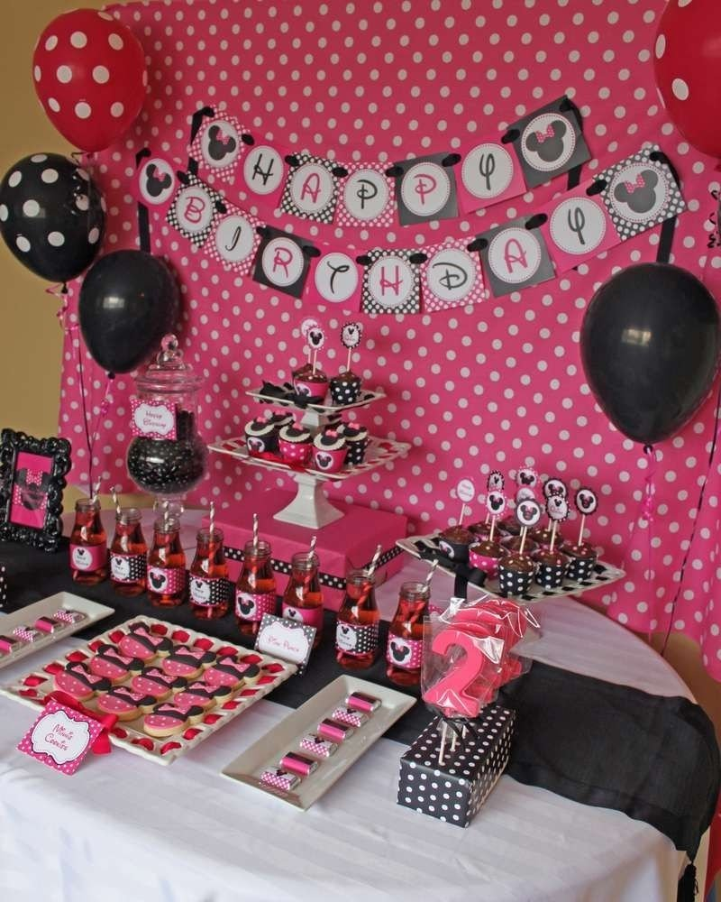 10 Wonderful Minnie Mouse Ideas For Birthday Party minnie mouse birthday party ideas minnie mouse birthday party 1 2020
