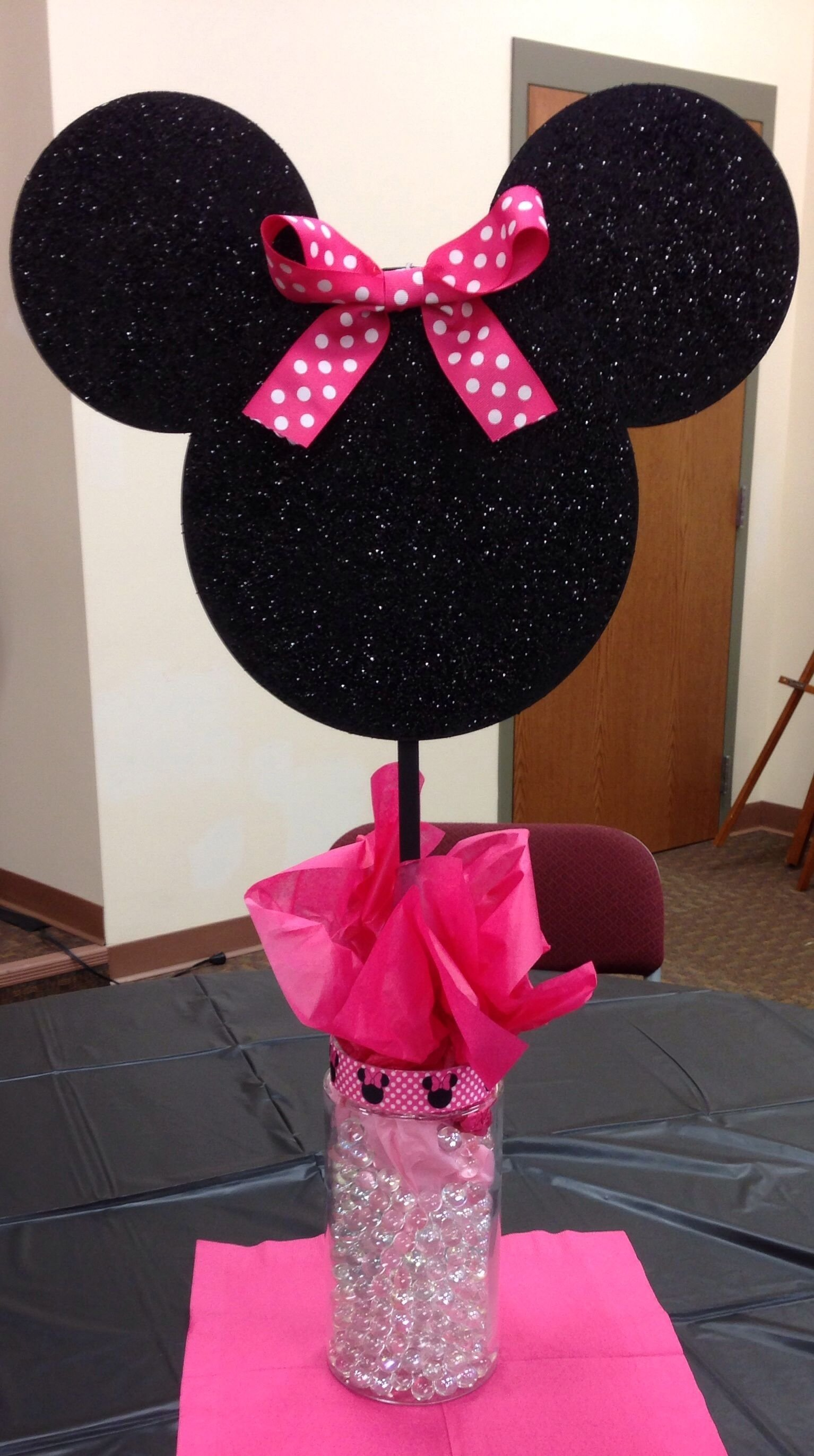 10 Unique Ideas For Minnie Mouse Party minnie mouse centerpieces first birthday decorations minnie theme 4 2021