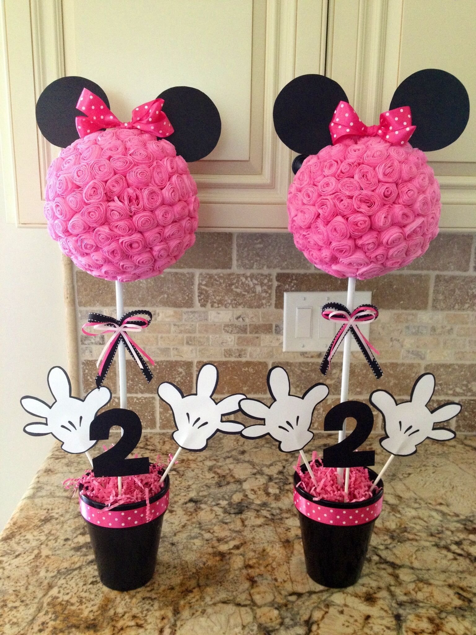 10 Most Popular Minnie Mouse 2Nd Birthday Party Ideas minnie mouse centerpieces minnie mouse pinterest minnie mouse 5