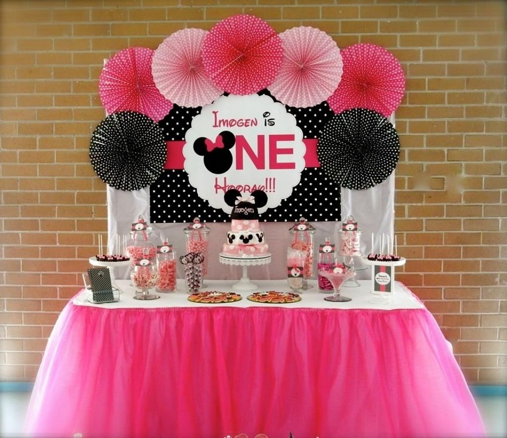 10 Unique Minnie Mouse Birthday Decoration Ideas minnie mouse decorations on pinterest minnie mouse 1st birthday 2 2020
