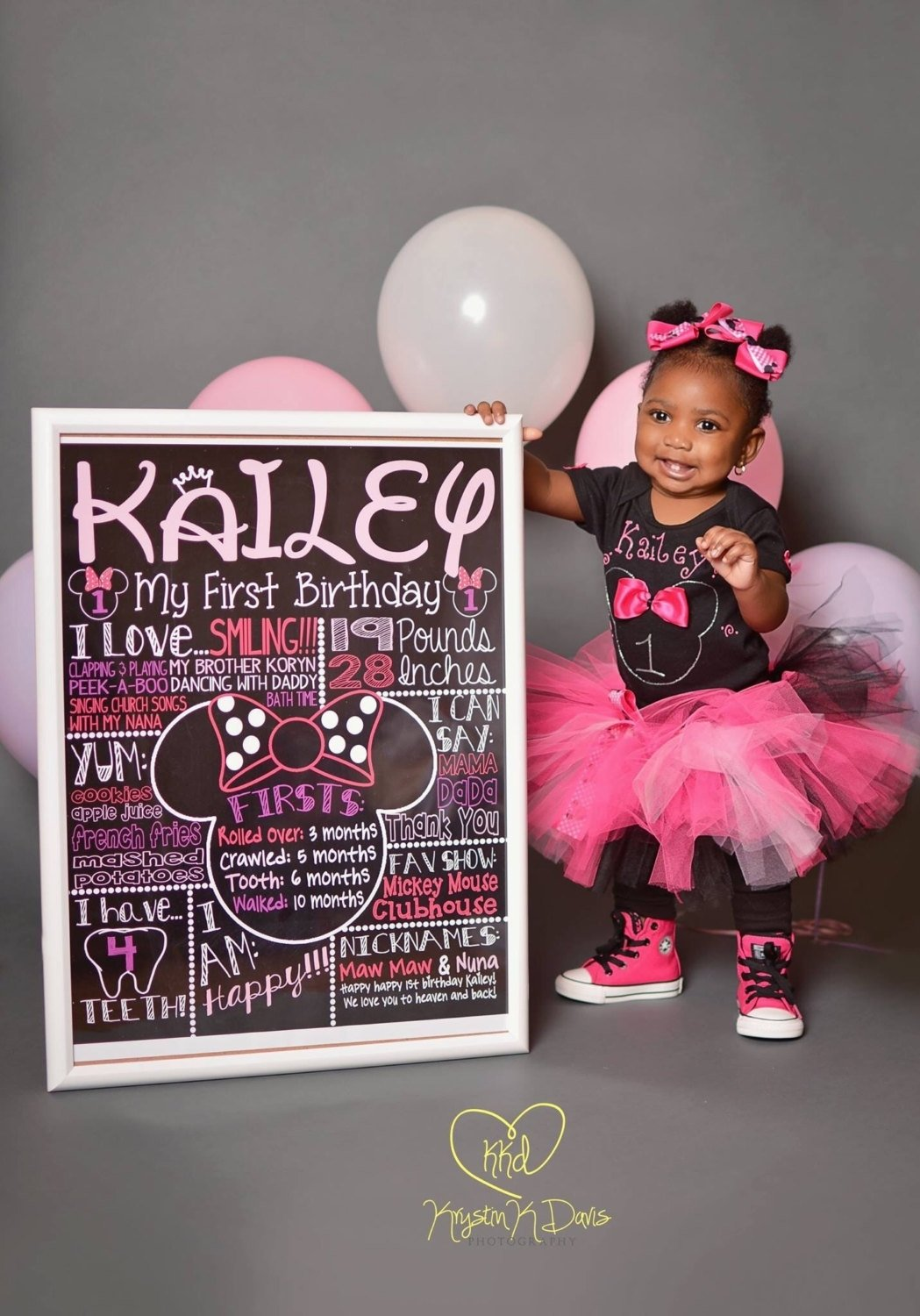 10 Fashionable Minnie Mouse First Birthday Ideas minnie mouse first birthday chalkboard 1st birthday chalkboard for 2 2021