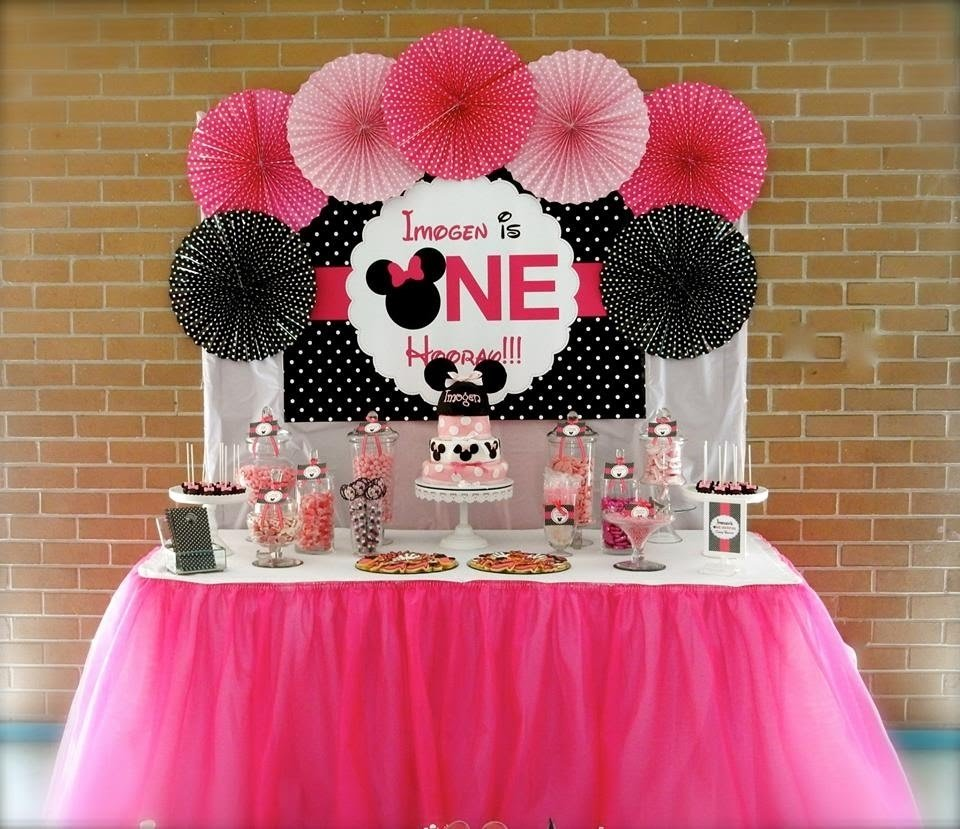 10 Wonderful Minnie Mouse Ideas For Birthday Party minnie mouse first birthday party via little wish parties childrens 7