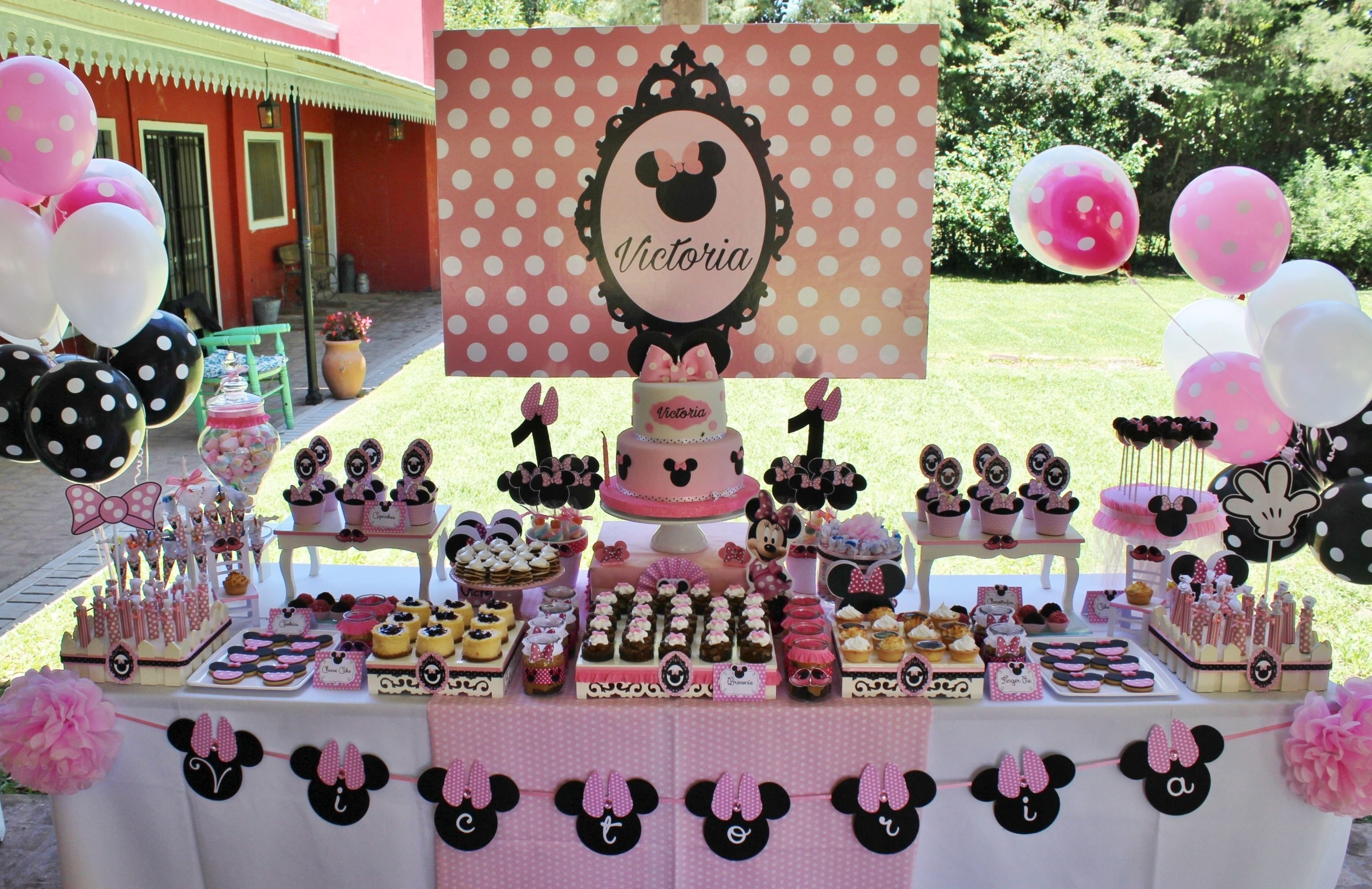 10 Wonderful Minnie Mouse Candy Bar Ideas minnie mouse in rose candy bar violeta glace dessert table 2021