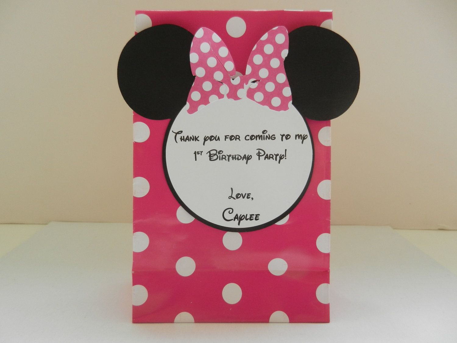 10 Pretty Minnie Mouse Candy Bag Ideas minnie mouse inspired goodie birthday party favor treat bag my 2020
