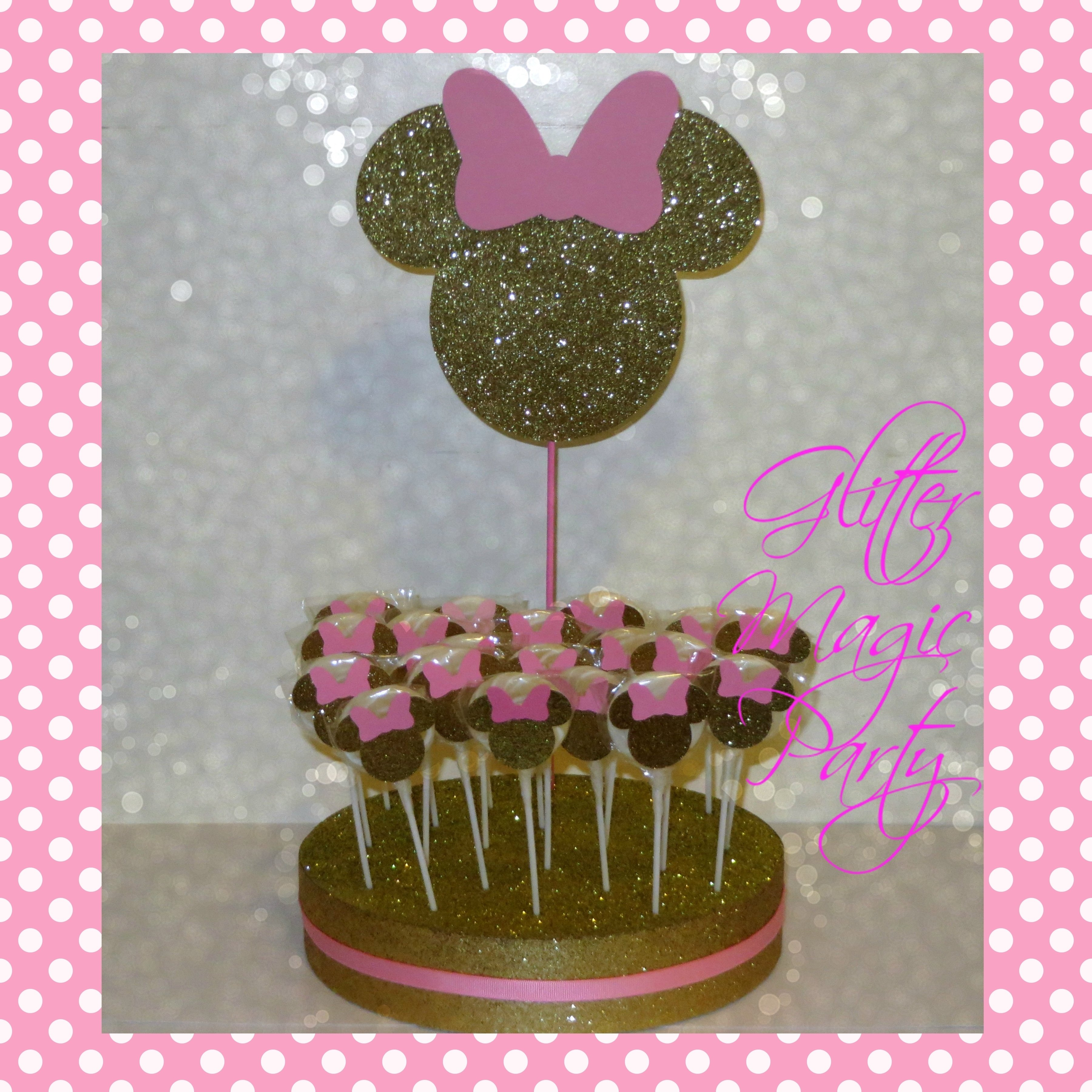 10 Fantastic Pink Minnie Mouse Party Ideas minnie mouse light pink and gold head glittermagicparty on zibbet 2020