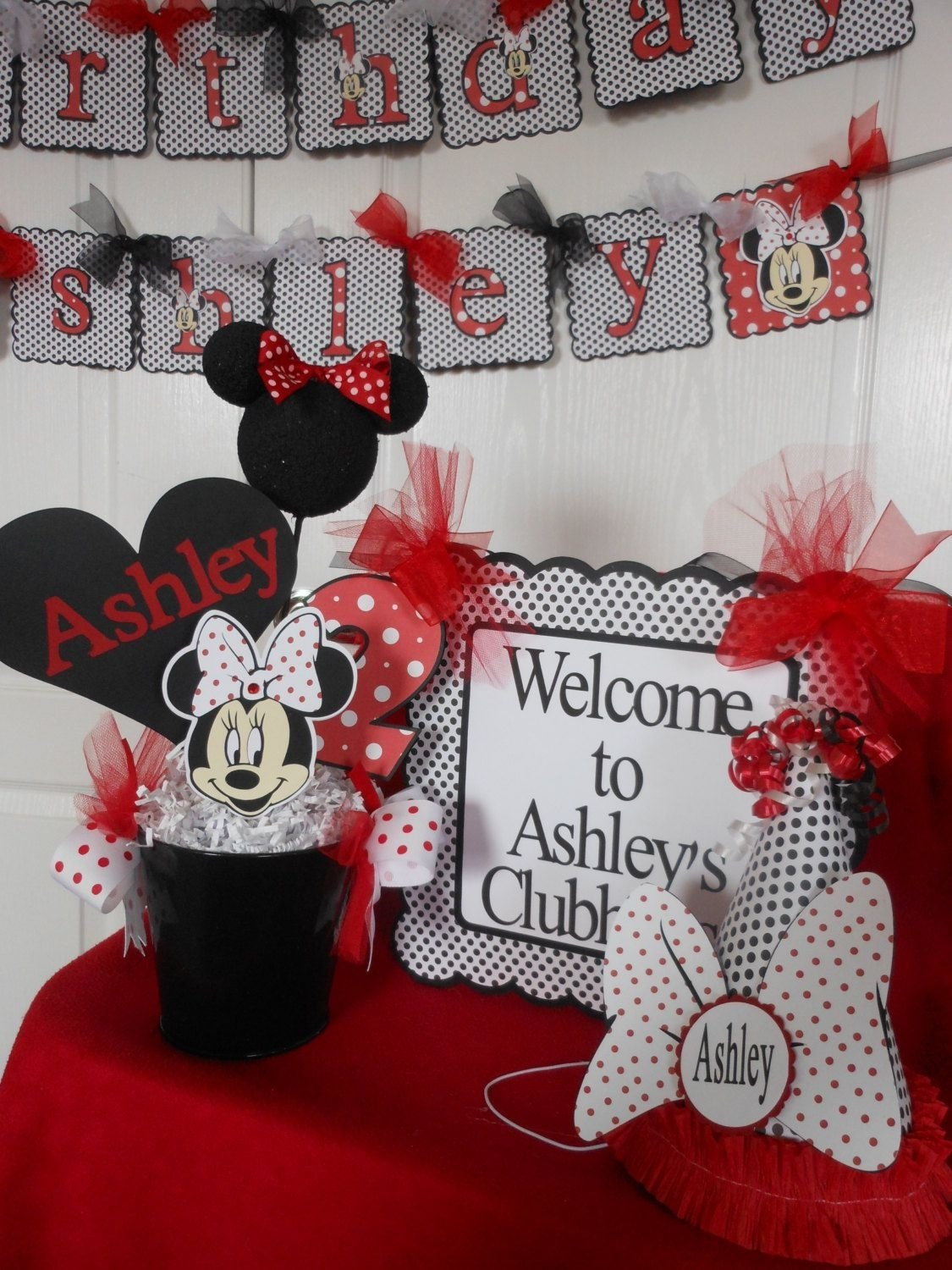 10 Stylish Red Minnie Mouse Party Ideas minnie mouse red polka dot ultimate birthday party package mice