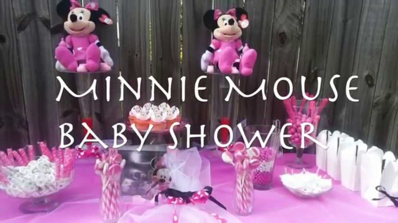 minnie mouse themed baby shower - youtube