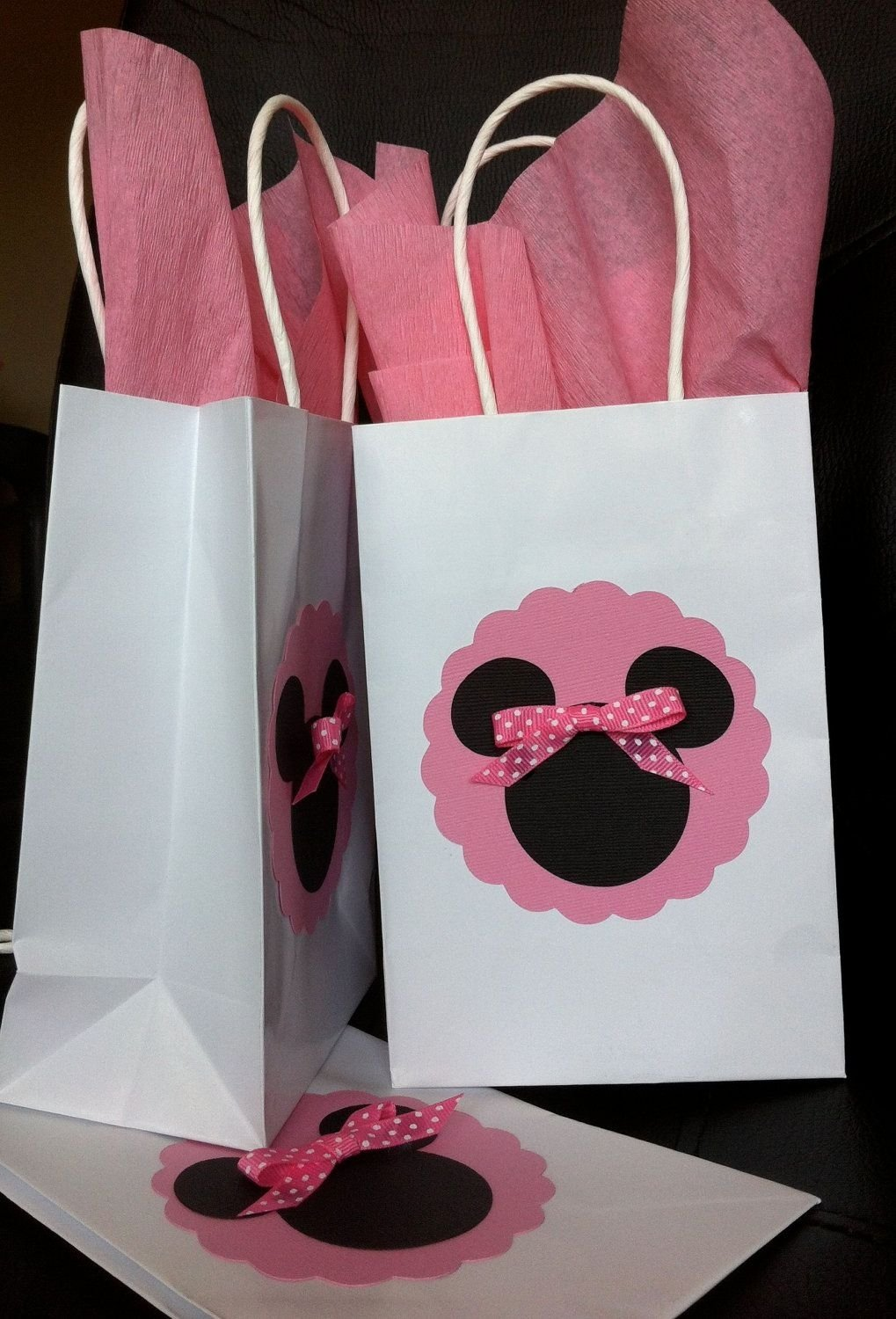 10 Beautiful Minnie Mouse Candy Bags Ideas minnie or mickey mouse treat goody bag mickey mouse treats 1 2020