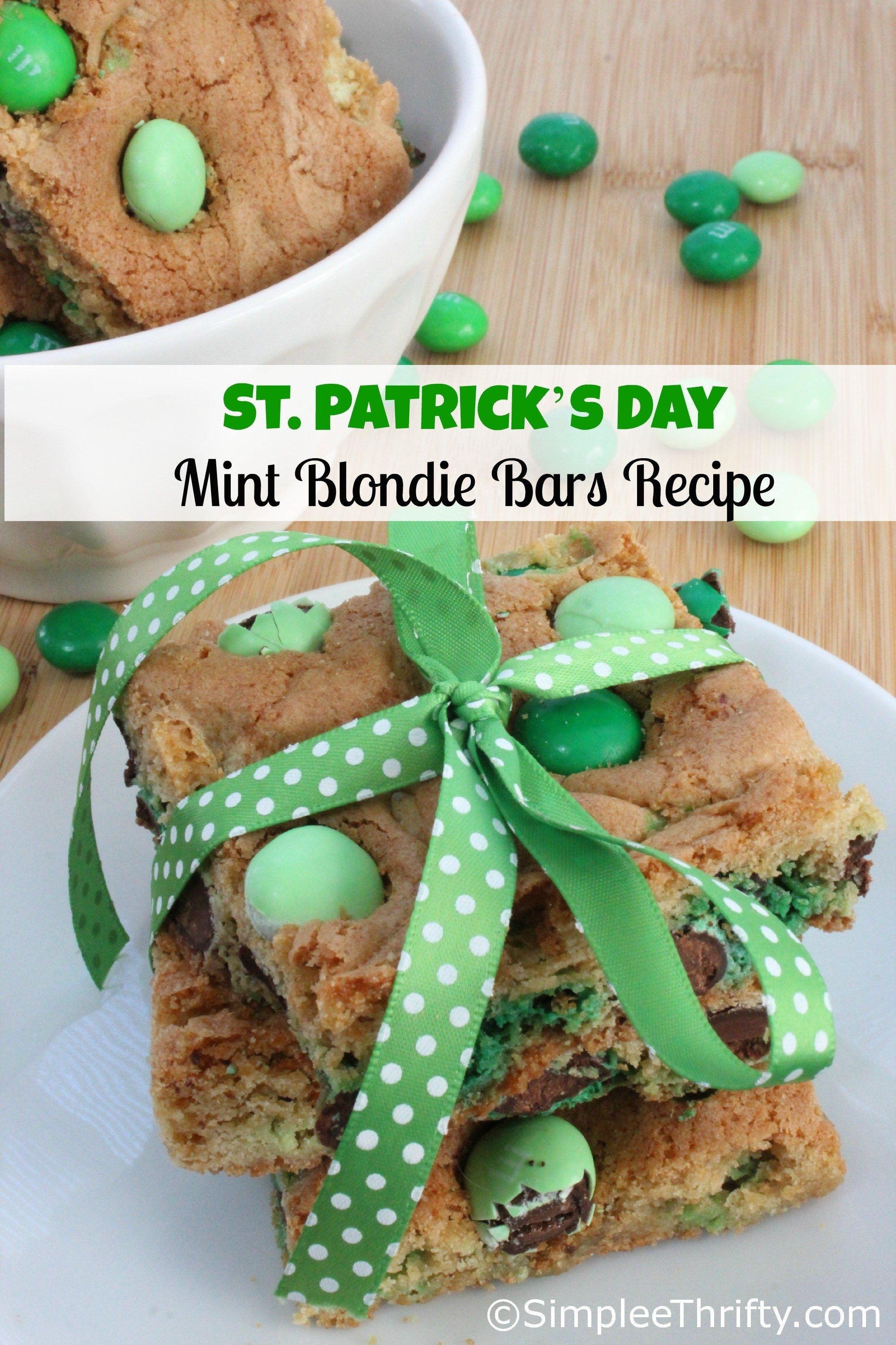 10 Elegant St Patricks Day Food Ideas mint blondie bars recipe st patricks day idea simplee thrifty 2020