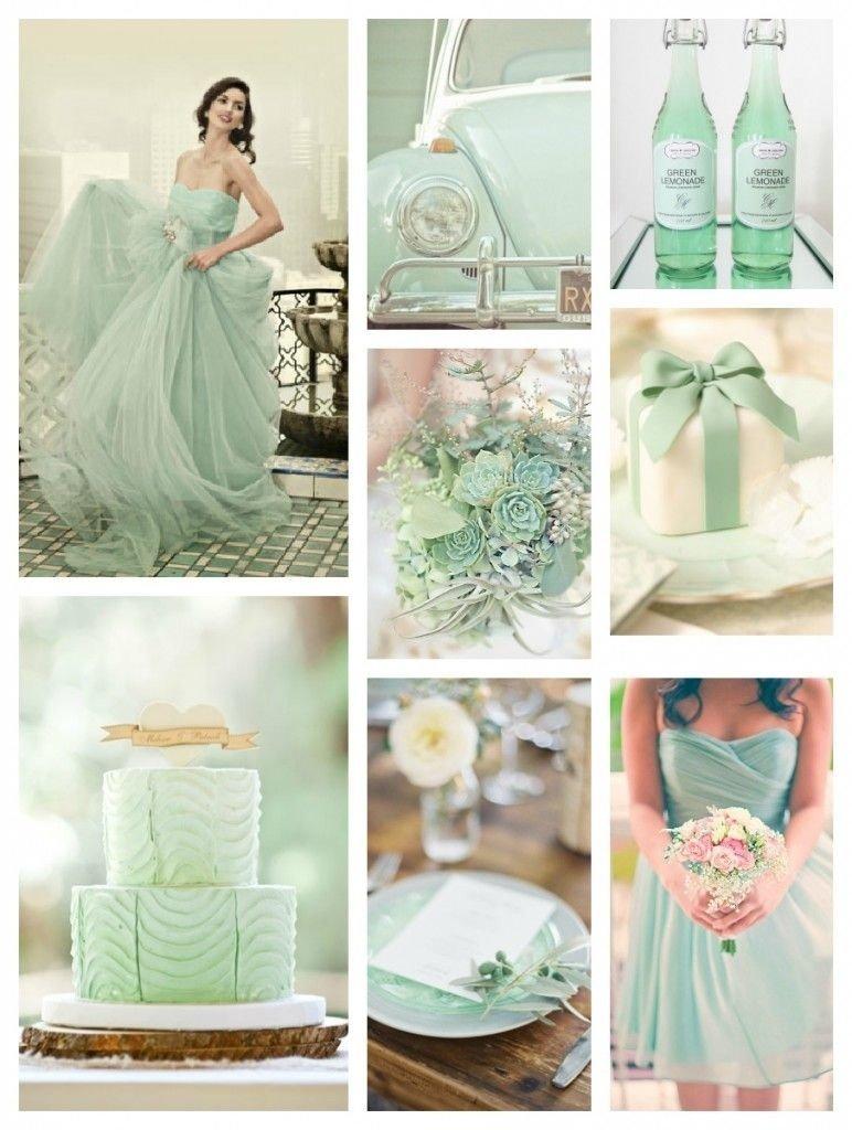 mint green wedding dress #greenwedding #mintgreenweddings