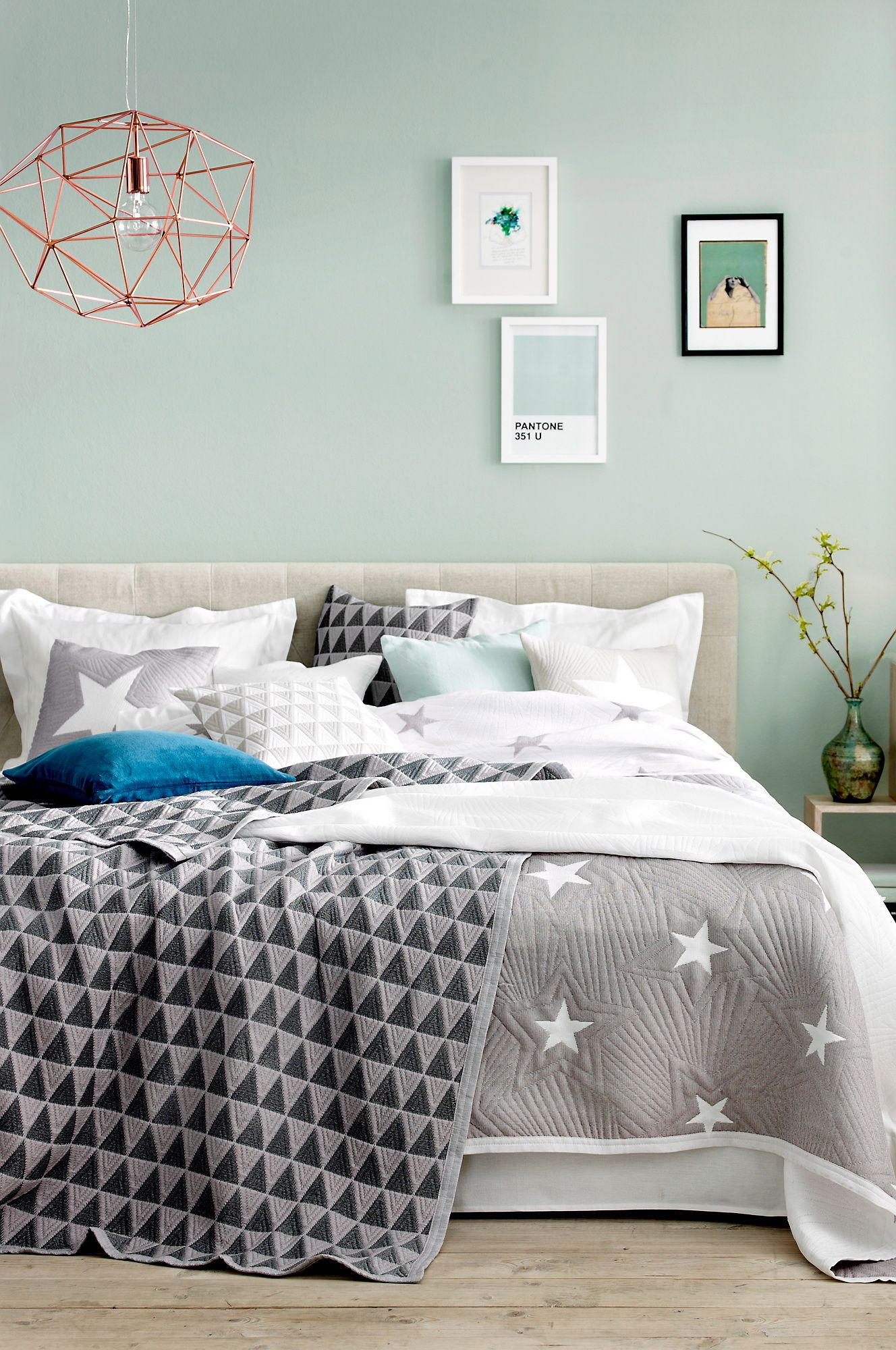 10 Stylish Green And Blue Room Ideas mint watery blue green walls grey accents comfy bedi like the