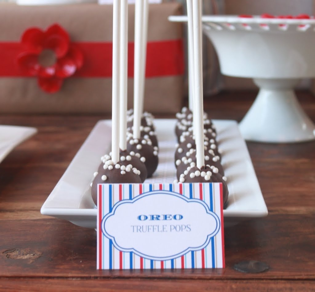 mirabelle creations party} -- modern going away party ideas